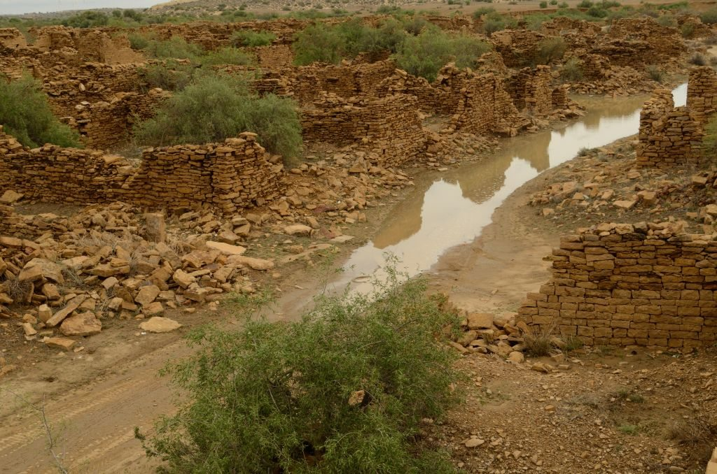 Kuldhara a ghost town near Jaisalmer, haunted village in Rajasthan, photo of Kuldhara
