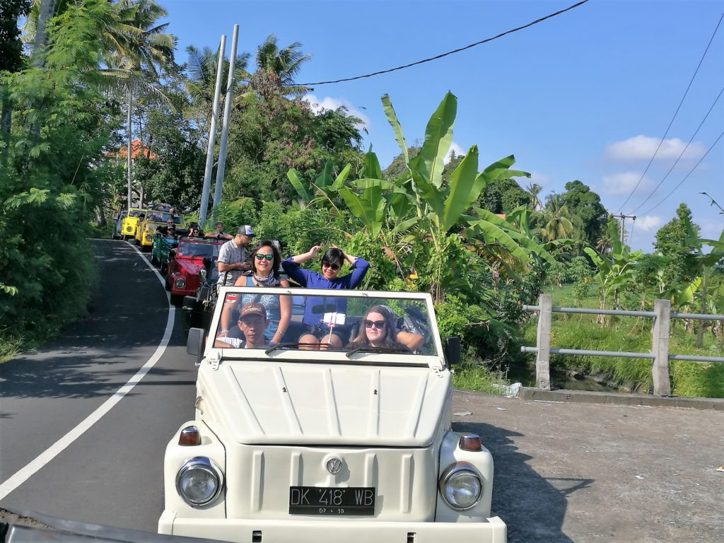 On the VW safari to Ubud