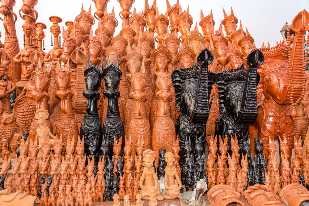 Bankura horses-arts and crafts of india - toy towns