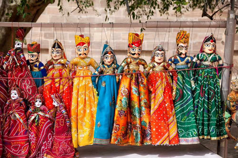 Rajasthani puppets-arts and crafts of india-toy towns